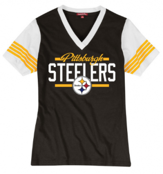 Mitchell & Ness Damen MVP Tee, Pittsburgh Steelers im Throwbacks Design