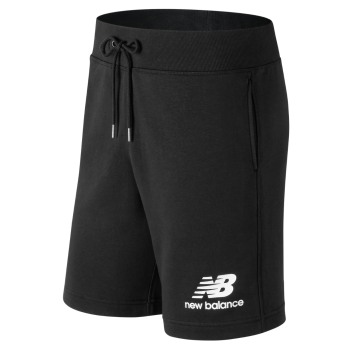 New Balance MS91584 BK Essentials Stacked Logo Shorts